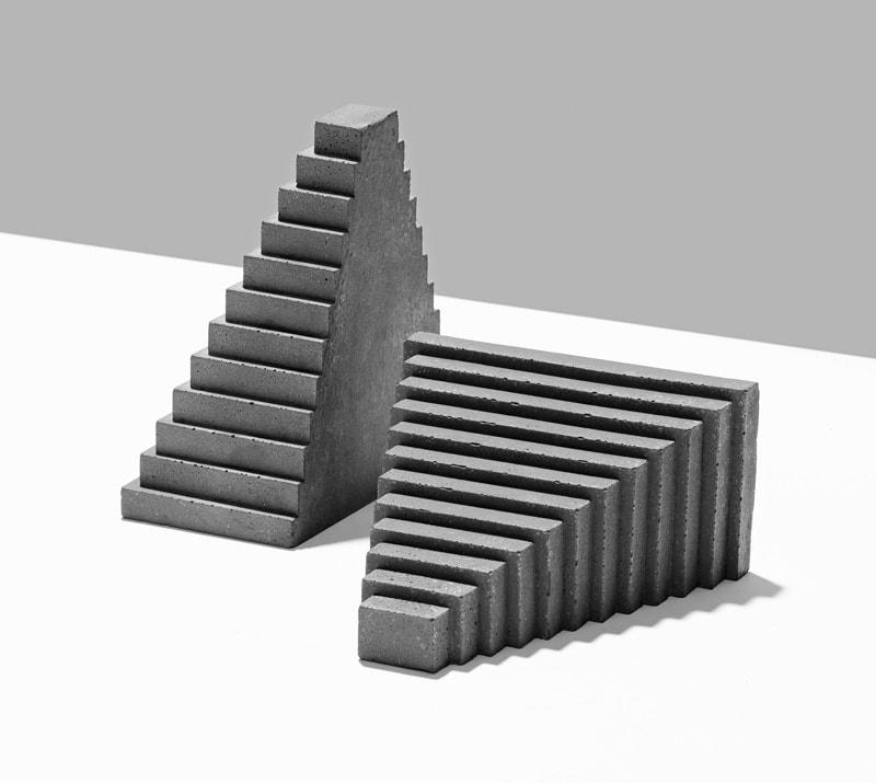 ジェスモナイト使用ブックエンド Jesmonite Scale